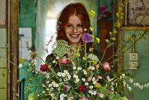 blumenbinderei / blumen kränze dekoration floristik flower decoration decorazioni floreali wheats