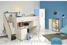 Dětské pokoje / Nábytek do dětských pokojů ve značkové kvalitě. Patrové postele, kombinované postele, designové sestavy nábytku do pokojíčků pro děti.