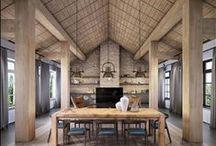 nowoczesna STODOŁA / yunakovdesign / Cegła, drewno i szarości. Fantastyczne zestawienie. Oto jak powstaje wnętrze domu w stylu nowoczesnej STODOŁY.