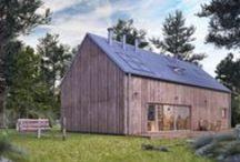 dom UNIWERSALNY / nowoczesna STODOŁA / Uniwersalny to projekt jednorodzinnego domu modułowego – jednego z serii domów konfigurowalnych autorstwa pracowni INDEA – inspirowany nowoczesną STODOŁĄ
