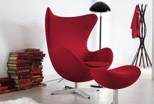 Egg Chair / Arne Jacobsen / nowoczesna STODOŁA / Projekt fotela powstał na zlecenie. Był częścią większego przedsięwzięcia. Jacobsen miał zaprojektować hol oraz recepcję Hotelu SAS Royal w Kopenhadze.