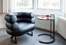 BIBENDUM CHAIR / Eileen Gray / nowoczesna STODOŁA / Eileen Gray projektowała meble na zamówienie, tkane ręcznie dywany oraz oświetlenie – wszystko po to, by tworzyć ekskluzywne wnętrza dla bogatych klientów myślących perspektywicznie.