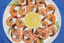 Fish and Seafood Dishes / This board is about seafood dishes and seafood garnish.