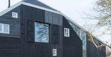 Skewed Stolp in the Beemster / SeARCH / nowoczesna STODOŁA / Jak powiększyć budynek gospodarczy, który po trzech stronach ma nisko opadający dach, a po czwartej stronie są wysokie wrota stodoły?