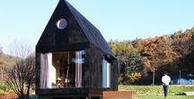 """Slow Town Tiny House / The Plus Partners, DNC Architects / nowoczesna STODOŁA / """"The Tiny House of Slow Town"""" to część projektu zwanego """"Slow Town"""", który zakłada stworzenie maleńkich domków, budowanych z drewnianych modułów"""
