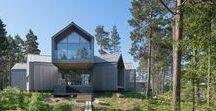 Villa Sunnano / Murman Arkitekter / nowoczesna STODOŁA / Założeniem tego projektu, było stworzenie rodzinnego domu w Sunnano w Szwecji.
