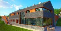 Dom w Świeradowie / Architekt Tomasz Mielczyński / nowoczesna STODOŁA / Indywidualny projekt domu mieszkalnego w Świeradowie Zdroju powstał na zamówienie inwestora. Jasno sprecyzowane i jednocześnie trudne do spełnienia warunki na działce o dużym spadku.