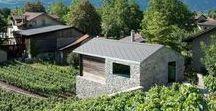 Vineyard Residence   Savioz Fabrizzi Architectes / nowoczesna STODOŁA / Ten wyjątkowy dom z kamienia i drewna góruje nad winnicą w rejonie Vetroz w południowej części Szwajcarii.