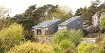Batviken / PULS arkitekter / nowoczesna STODOŁA / en srebrno-szary budynek to domek letniskowy należący do rodziny z Oslo, zaprojektowany przez Tima Resena. Znajduje się on w miejscowości nadmorskiej Stromstad w Norwegii.