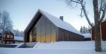 Bergersen Arkitekter / Hunter's Hall / nowoczesna STODOŁA / Budynek znajduje się w ośrodku myśliwskim w Duved w Szwecji.