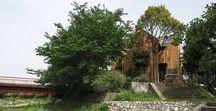 Love Architecture / Cross House / nowoczesna STODOŁA / Cross House to dom, który powstał dla powieściopisarza marzącego o tym, by mieszkać w odizolowanym od sąsiadów domu, w spokojnej okolicy otoczonej zielenią.