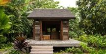 Jay Nelson / Surf Shacks 028 / nowoczesna STODOŁA / Na jednej z hawajskich wysp, w ustronnym miejscu pełnym bujnej roślinności, stoi wymarzony dom filmowca o nazwisku Jess Bianchi i projektantki biżuterii Malii Grace Mau, który został stworzony przez artystę z San Francisco – Jaya Nelsona.
