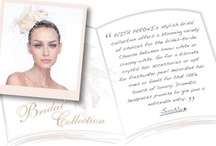 EVITA PERONI Bridal Collection / EVITA PERONI's stylish bridal collection offers a stunning variety of choices for the brides-to-be. Choose between snow white or creamy white. Go for discrete crystal hair accessories or opt for freshwater pearl decorated hair vines or bands for that little touch of luxury.