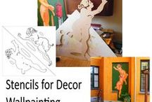 Stencil Wallpaintings / Various options for bigger wallpaintings , Multilayer Stencils.