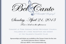 Bel Canto / Fifth Anniversary of the Bel Canto Concert in Valdosta featuring five internationally acclaimed artists entertaining the audience with operatic arias and popular show tunes. Performers: Stella Zambalis, soprano; Carol Sparrow, mezzo-soprano; Randolph Locke, tenor; Michael Corvino, baritone; and Michael Wittenburg, pianist.