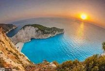 Zakynthos' dramatic sunset  / Admire a magnificent sunset in Zakynthos island. Red, orange, pink and purple colors abound.. Enjoy!