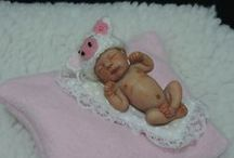 Reborn babies tiny doll sculpts mini baby dolls / so real so cute Reborn babies tiny doll sculpts mini baby dolls hand made OOAK sculpture polymer clay babies in miniature from 1 inch