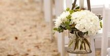 Wedding, Aisle Decor / Flowers, runners, ribbon and more guide you down to your ceremony.