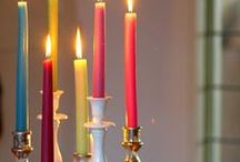 Decor, Candles / Different ways to decorate with candles.