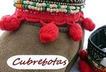 Cubrebotas / coverboots CUEROKAS / Cubrebotas y cubresandalias etnicos en piel hechos a mano. Piezas únicas artesania de Asturias