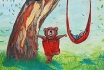 'Yoga for Little Bears' illustrations by Monica Batiste / Illustrations from my various children's books.  I love children. I love books. I love art.  So it all comes together in one beautiful gathering of joy.