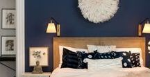 Home, Navy Blues and Neutrals / My favorite decorating color, Navy blue, complimented with neutral tones make for the most calming spaces.