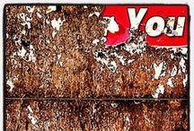 Street Walking / worn out billboards around town