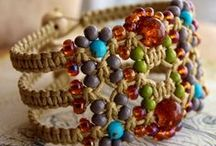 Macrame Knotted Jewelry / Love macrame, love making jewelry....why not combine the two???