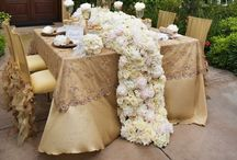 Floral Table Runners / The dreamiest table decor possible! Fresh floral table runners are perfect centerpieces for weddings and special events!