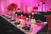 Pink and Black Wedding / Pink and black wedding inspiration! There are so many different beautiful variations on the pink and black theme!