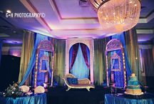 Purple, Blue, and Green Wedding Theme / Wedding inspiration and decorations devoted to the peacock color scheme: purple, blue, and green.