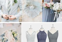 Wedding Themes and Color Palettes / Color palettes and moodboards for wedding theme inspiration.