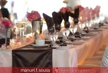 Pink and Brown Wedding / Pink and brown wedding inspiration - from blush to hot pink and tan to chocolate!
