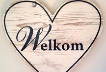 Houten decoratie / Wooden decoration / Leuke steigerhouten ideeën....