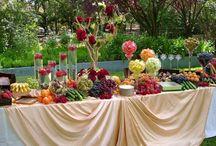 Wedding Food and Drink / Wedding reception food and drink displays