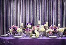 Purple and Silver Wedding / Inspiration for purple and silver themed weddings.