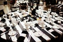 Black and White Wedding / Black and white wedding ceremony and reception inspiration. Check the the different variations on this chic and classic theme.