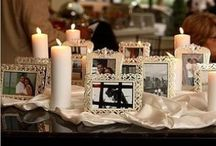 Remembrance Tables / Ways to honor loved ones who have passed at your wedding reception.