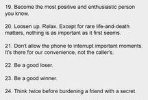 Wisdom / Wisdom & advice.