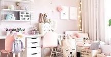 Playroom and Arts and Crafts Room Ideas / Ideas for a light bright and fun playroom and creative arts and crafts space, ideal for young children, which will grow with them.
