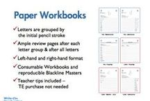 WOH Paper Workbooks / See sample workbook pages from our print and cursive workbooks. We offer workbooks for right- and left-handed children! Workbooks are spiral bound on the top - no center binding to get in the way.