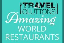 Amazing World Restaurants / Eating out in all its glory. From small intimate corner tables to a  table in one of the best restaurants in town—you'll find them here. Table for two? If you would like to join this group board of food loving travellers, email us at info@travelgluttons.com along with your Pinterest user name. Please note that this is not a place to promote spam (we don't mean the food).