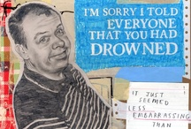 Apology Drawings / David Fullarton's series of mixed media drawings depicts people apologizing for an array of reasons—some humorously benign while others are melancholic or even caustically indignant. His work is an exploration of the possibilities of the contextless phrase, and a provocation to think about the larger narrative in which the apologies were based in. www.davidfullarton.com