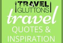 """Travel Quotes & Inspiration / """"People will travel anywhere for good food—it's crazy."""" -- Rene Redzepi  We love a good travel quote! There's almost nothing better to help get you inspired to travel. And that's why we have put together this board full of our favourite travel quotes and inspiration."""