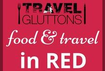 Food & Travel in Red / Deep red, bright red, light red...we love them all! And that's why we have created this board full of travel and food pins inspired by the colour red.