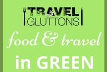 Food & Travel in Green / A favourite on St. Patrick's Day and in spring, here is a board full of travel and food that has been inspired by the colour green.