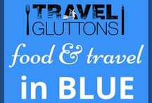 Food & Travel in Blue / From beautiful blue skies to the deepest darkest blue of the ocean, blue makes the world go round. And here are some of our favourite food and travel pins.