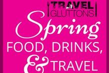 Spring Food, Drinks, & Travel / Throw those hats, scarves, and gloves to the back of the cupboard. Spring is here! Celebrate with this board full of spring food, drinks, and travel.