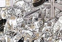 Bonvi / The great italian cartooonist Bonvi (1941-1995) and his portfolio: Sturmtruppen, Nick Carter (with Guido De Maria) Milo Marat (with Mario Gomboli), Marzolino Tarantola, Cronache del Dopobomba, Cattivik, Storie dello Spazio Profondo (with Francesco Guccini), l'Uomo di Tsushima, Ali Babà, Incubi di provincia... Licensed worldwide by negrini+varetto.