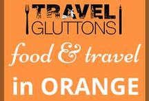 Food & Travel in Orange / We are great fans of the colour orange. So much so that we created a board all about travel and food that has been inspired by the colour.